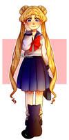 [FanArt] - Usagi Tsukino / Sailor moon by BleuDoux