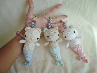 Crochet Merkitties Bag Charms/Keychains by judithchen