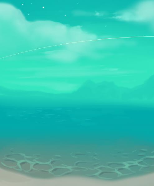 Shooting star beach by longestdistance
