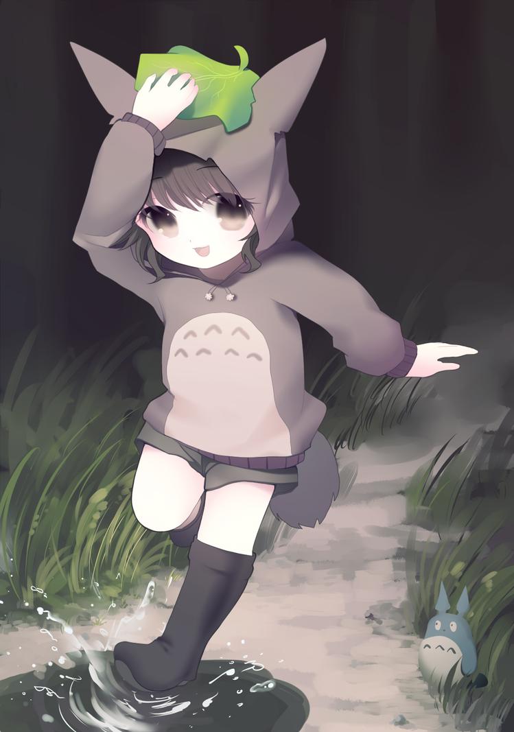 Totoro girl! by longestdistance