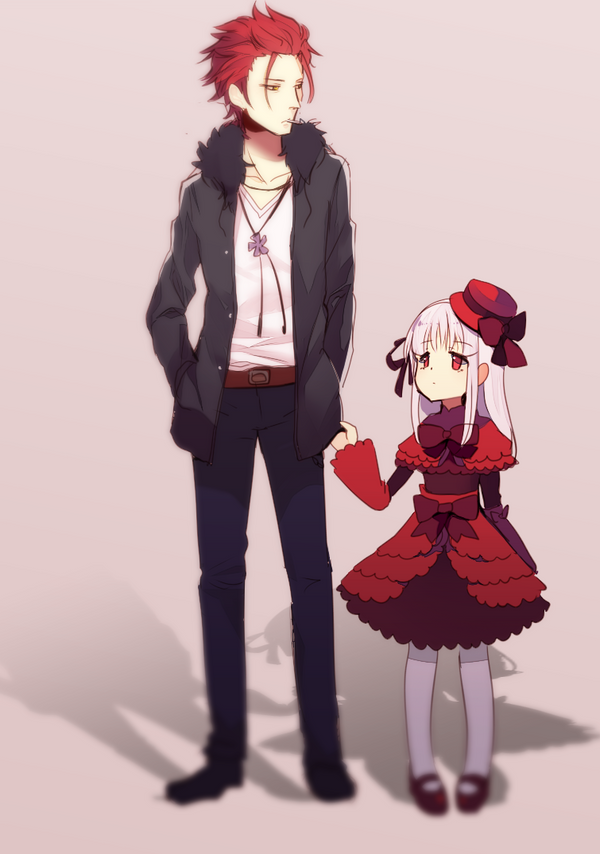 The red king and his loli by longestdistance