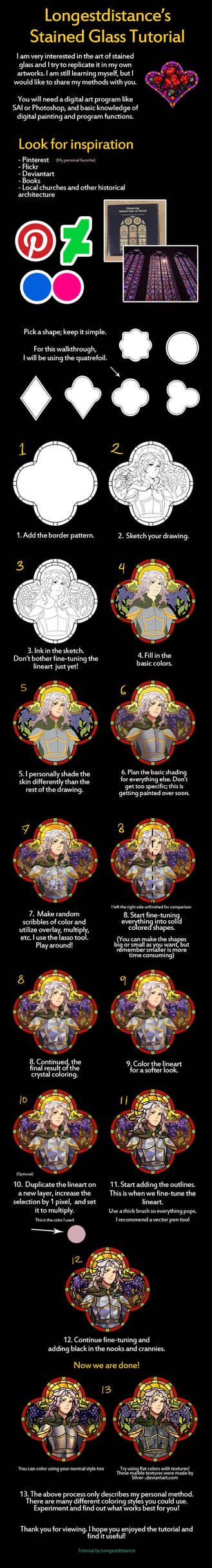 Digital stained glass coloring tutorial
