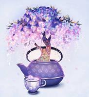 Wisteria teapot. by longestdistance