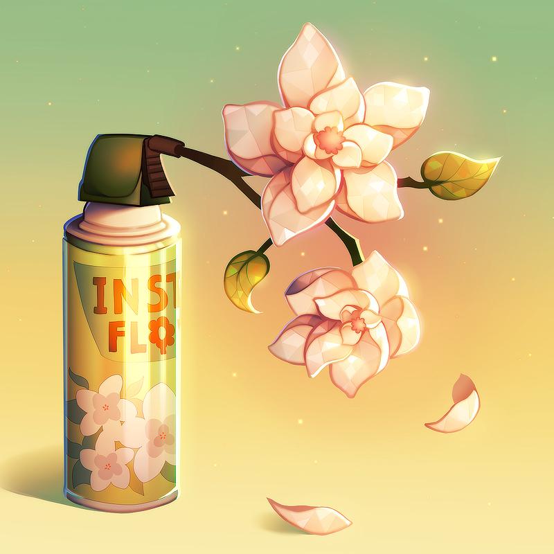 Instant flowers in a can! by longestdistance