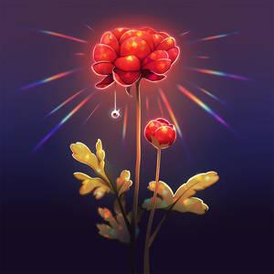 Flower lamp.
