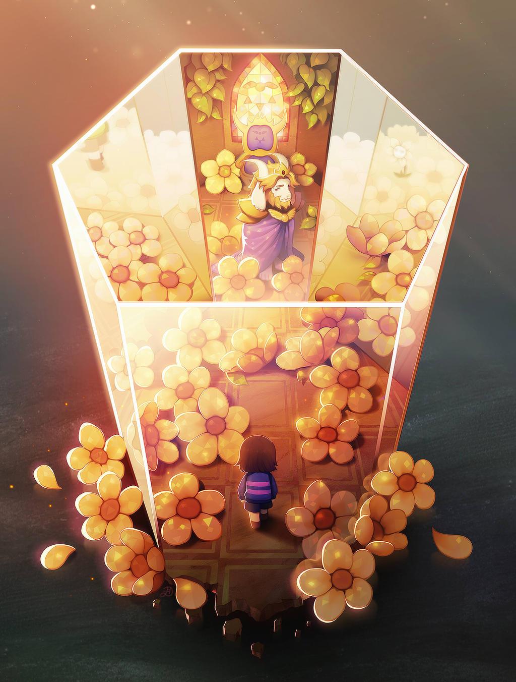 Asgore's throne room. by longestdistance