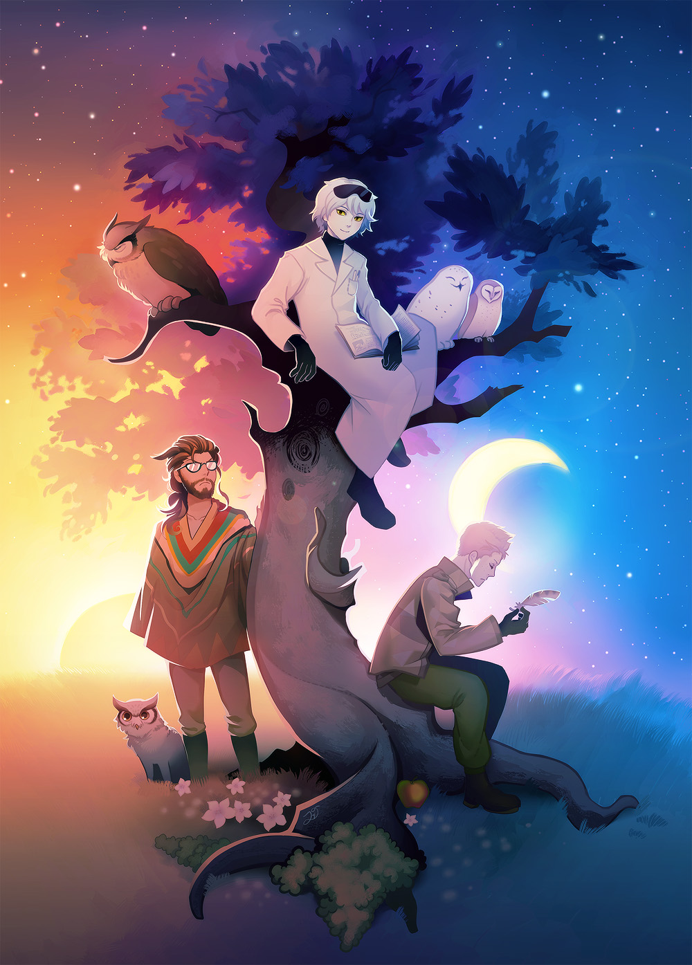 Daybreak ~ Owl tree