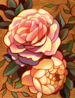 Rose and peony. by longestdistance