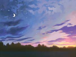 August dusk.
