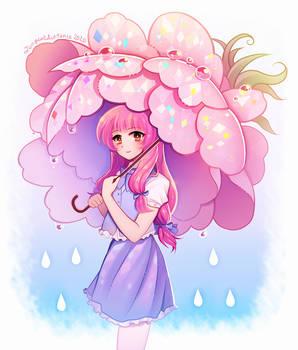 Naoyo and the peony umbrella.