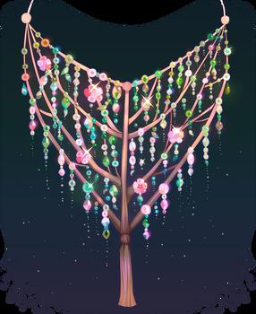 Tree necklace.