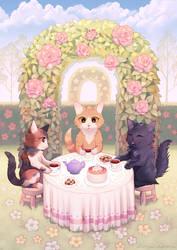 Kitten tea party.