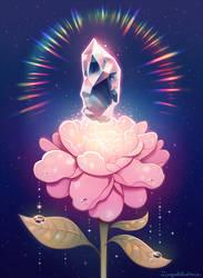 Blooming flower crystal.