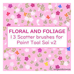 Floral and foliage scatter brushes for SAI2