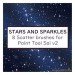 Stars and sparkle scatter brushes for SAI2