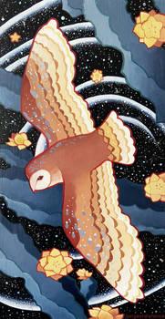 Cosmic barn owl.