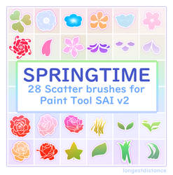 Flower and foliage scatter brushes for SAI2