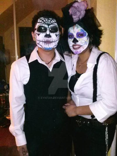 Halloween costumes! Los Catrines!  sc 1 st  EYKFAN - DeviantArt & Halloween costumes! Los Catrines! My babe and me! by EYKFAN on ...