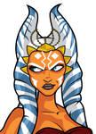 Ahsoka Jedi Knight head detail
