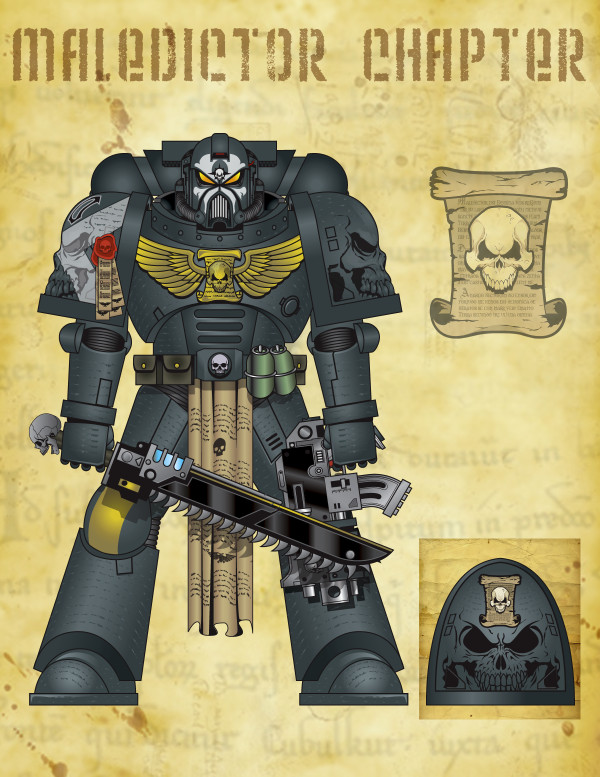 Maledictor Space Marine icon by The-First-Magelord