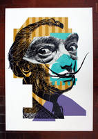 Portrait of Salvador Dali 10 by orticanoodles