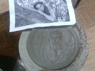 Bassorilievo Mermaid Inspired (WIP) by MyDigitalArt