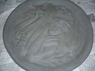 Bassorilievo Mermaid Inspired (WIP 3) Essiccazione by MyDigitalArt