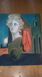 Bassorilievo e pittur ispirato a De Chirico by MyDigitalArt