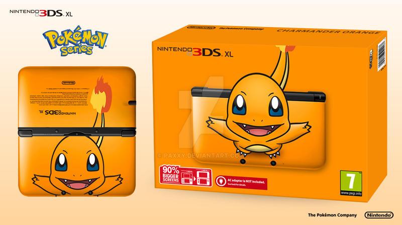 Nintendo 3ds xl pokemon series charmander ed by paxxy for Coque 3ds xl pokemon