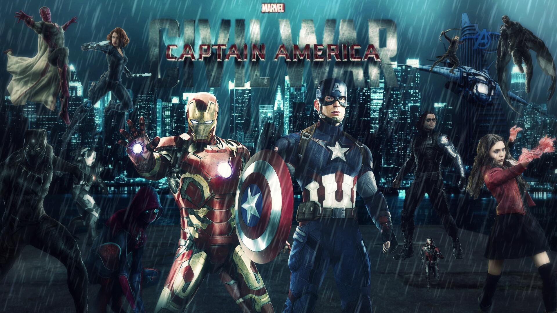 Captain America Civil War Wallpapers Hd: Captain America Civil War HD Wallpaper By