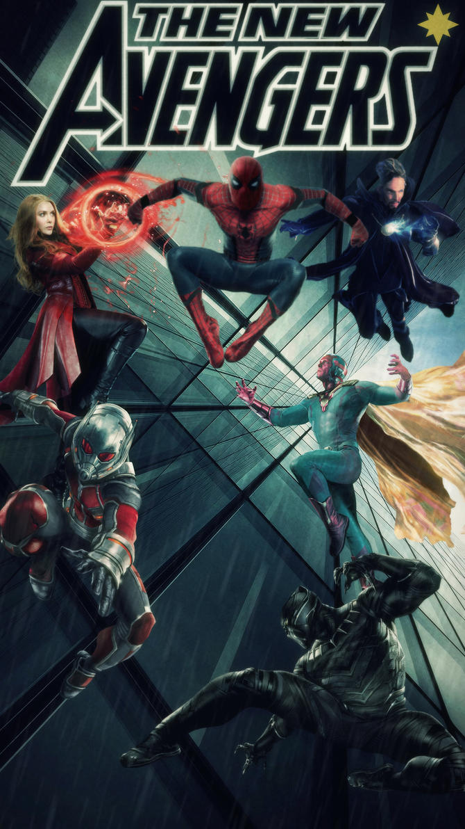 the new avengers hd mobile wallpapertheincrediblejake on deviantart