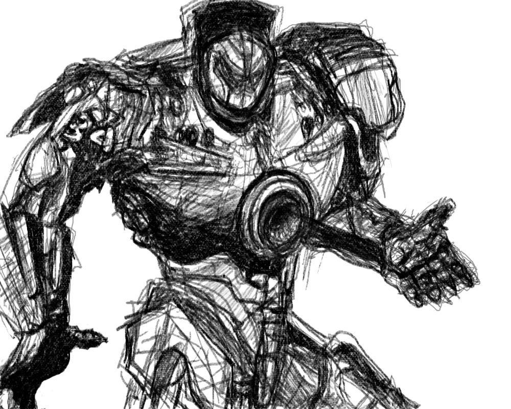 Pacific Rim Sketch by Shien279 on DeviantArt Pacific Rim Scunner Drawing