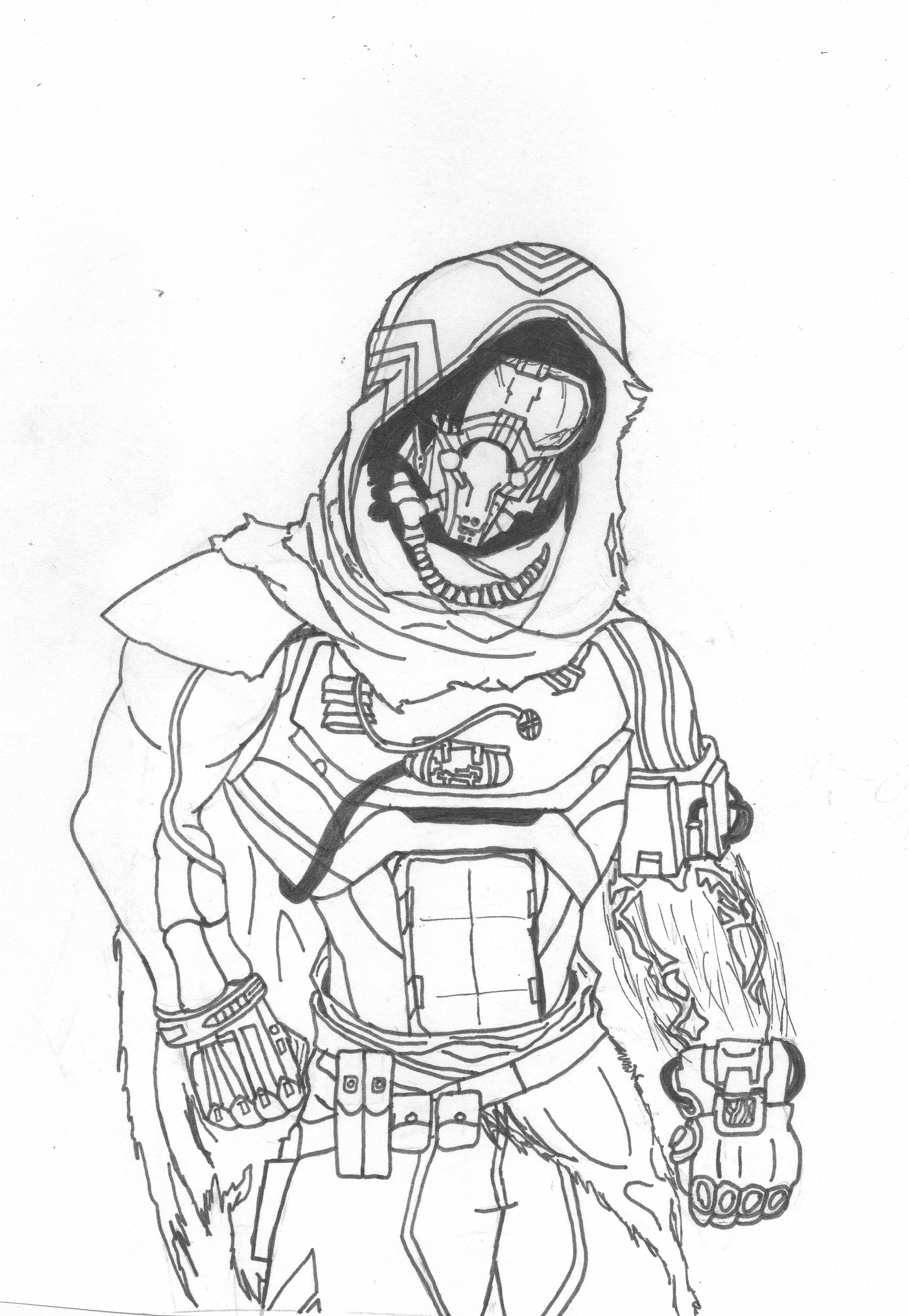 destiny coloring pages - gift destiny hunter by death dealer1368 on deviantart