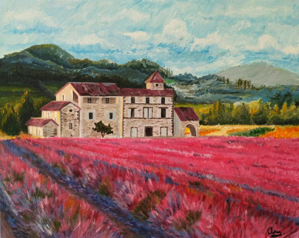 Lavender field by annsayuri
