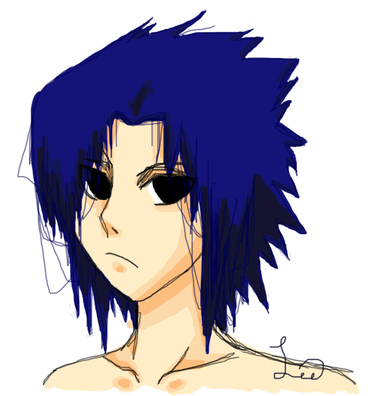 Sasuke - Headshot by drive-a-leaf