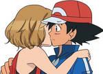 Serena kiss Ash for wishing him, Good Luck!