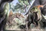 Spinosaurus Attacks Dinosaurs