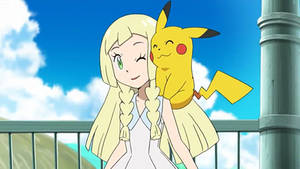 Lillie finally touches another Pokemon