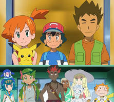 Ash's Classmates meets Misty and Brock by WillDinoMaster55