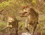 Allosaurus Hunting by WillDinoMaster55
