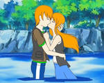 Pokemon Quest: Will and Emily's first Kiss by WillDinoMaster55