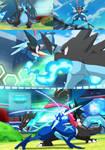 Pokemon Quest: Calem Greninja vs Mega Charizard X