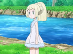 Lillie with her Pony Tail