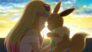 Risa and her Eevee (1) by WillDinoMaster55