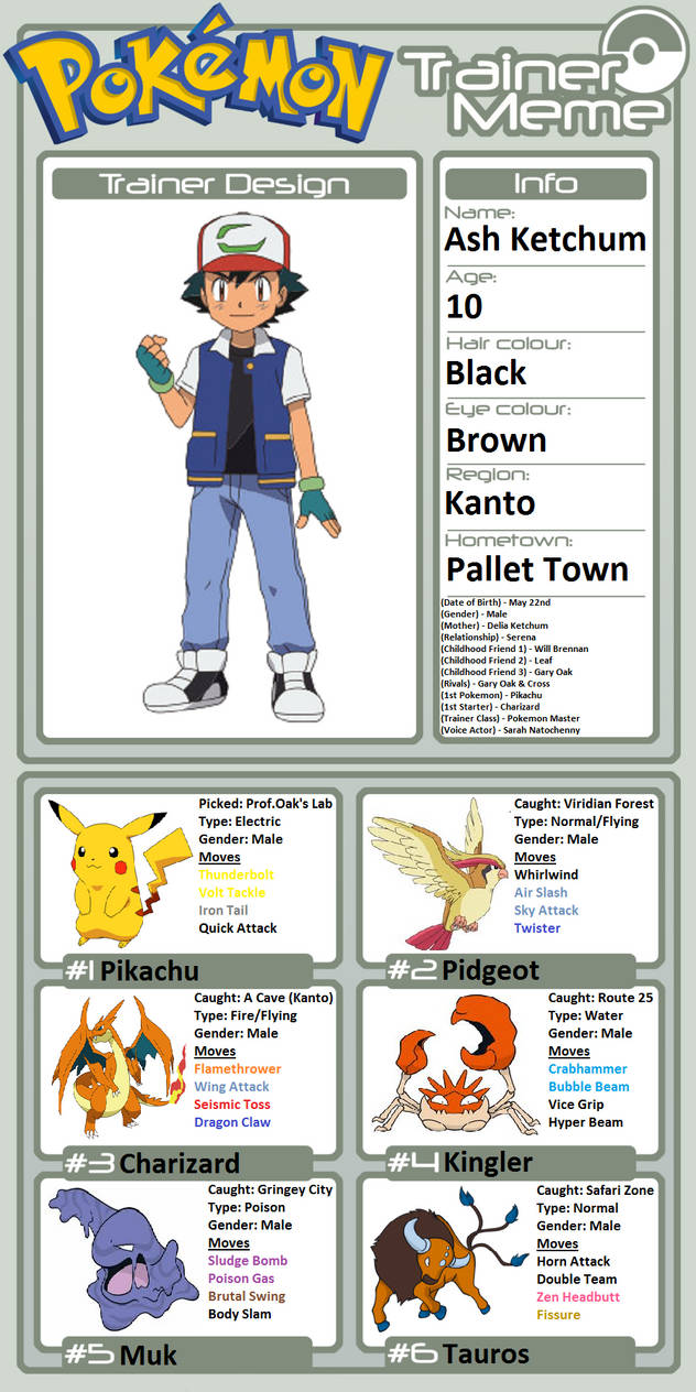 Trainer Profile: Ash Ketchum (Movie 20) by WillDinoMaster55 on