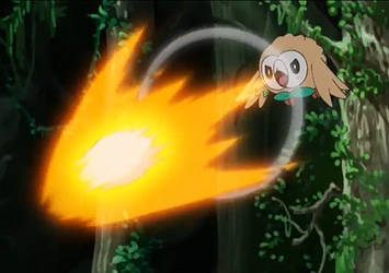 Rowlet's New Move, Seed Bomb by WillDinoMaster55