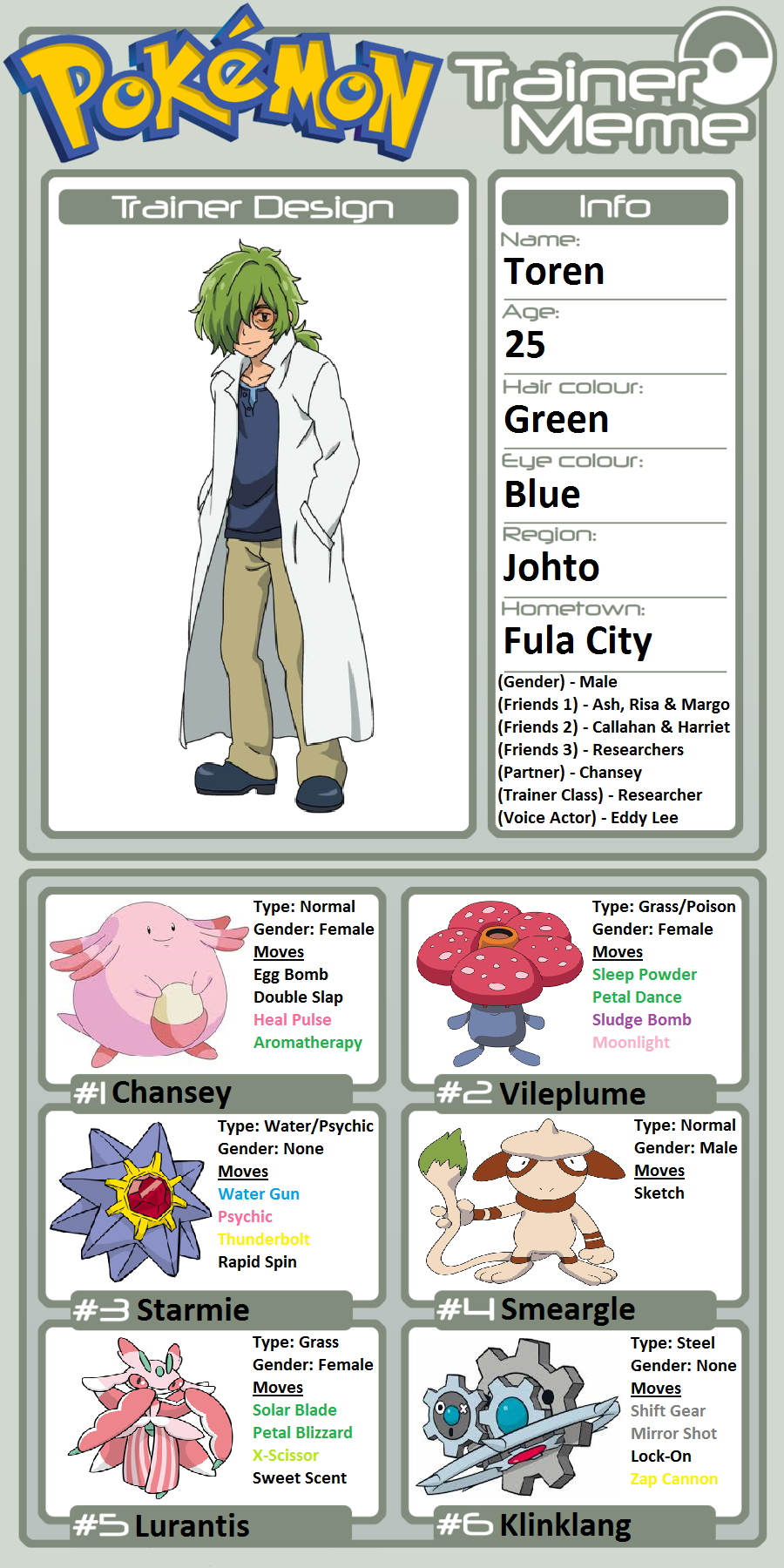Trainer Profile Toren By Willdinomaster55 On Deviantart
