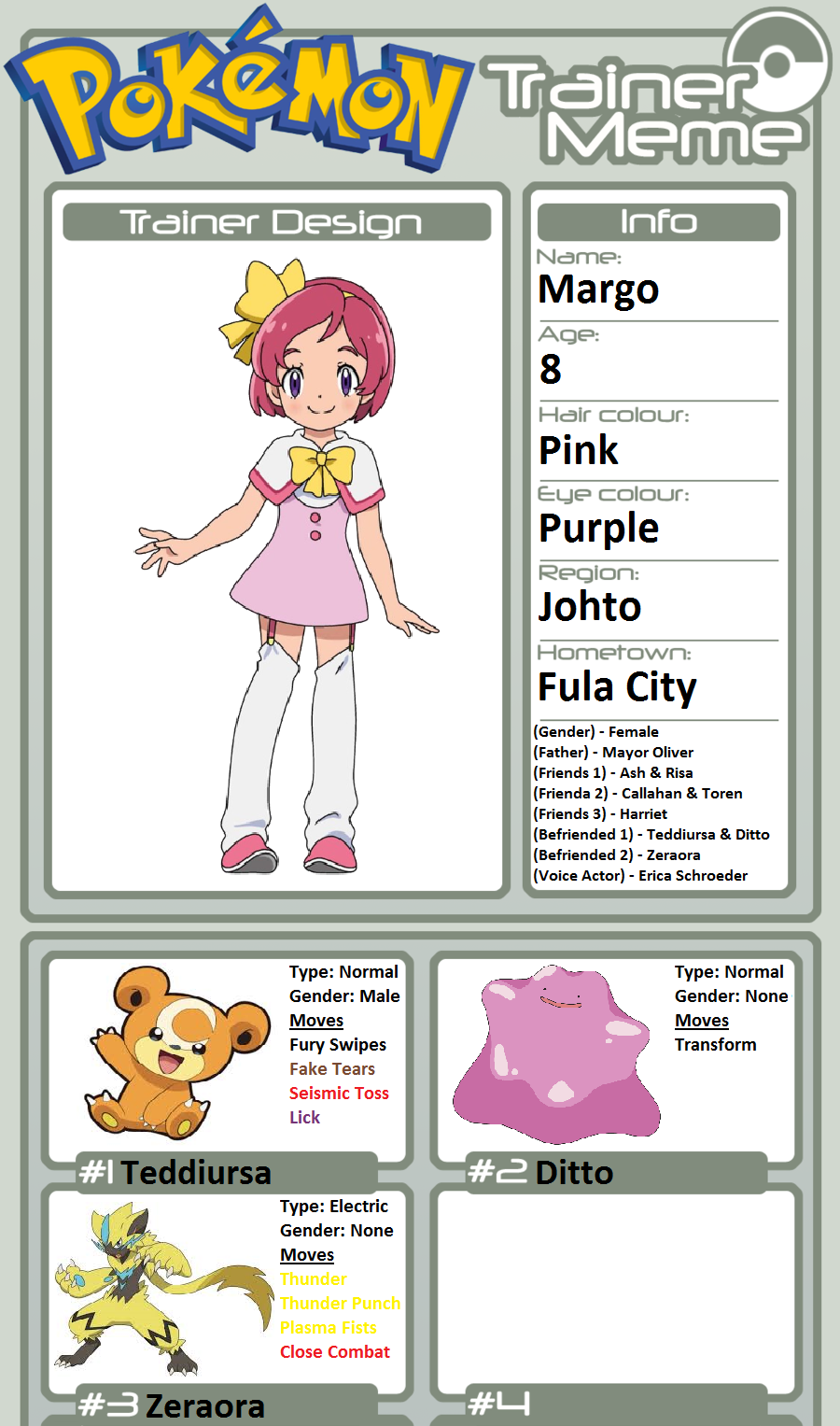 Trainer Profile Margo By Willdinomaster55 On Deviantart