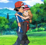 Pokemon Quest: Ash helps Serena