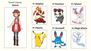 Serena's Pokemon Team